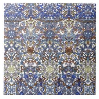 Elegant lace pattern in noble colors-Art Nouveau Ceramic Tile