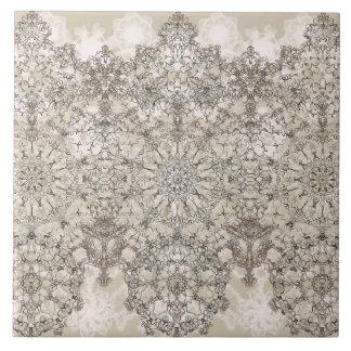 Elegant laced  golden white pattern ceramic tile