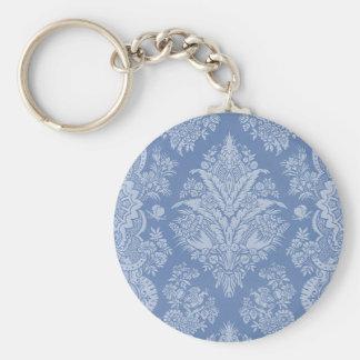 Elegant Lacy Blue Key Ring