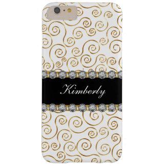 Elegant Ladies Jewel Monogram Barely There iPhone 6 Plus Case