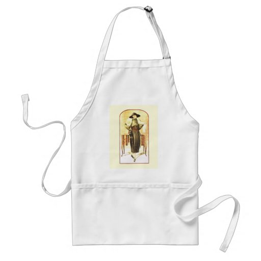 Elegant lady 1928 apron