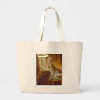 Elegant Lady Thinks About Porcupines Large Tote Bag