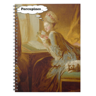Elegant Lady Thinks About Porcupines Notebook