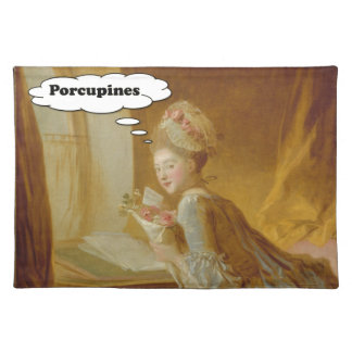 Elegant Lady Thinks About Porcupines Placemat