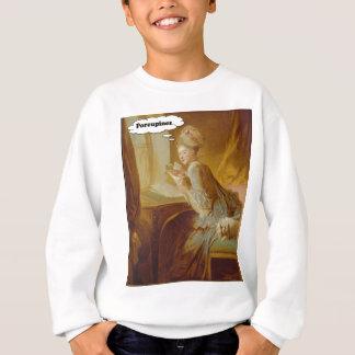 Elegant Lady Thinks About Porcupines Sweatshirt