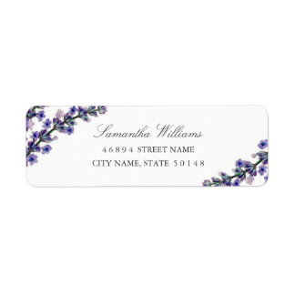 Elegant Lavender Address Labels
