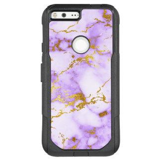 Elegant Lavender Gold Faux Metallic Marble Pattern OtterBox Commuter Google Pixel XL Case