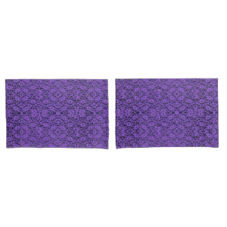 Elegant Lavender Purple Lace Print Pillowcase