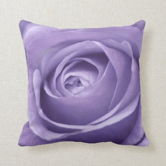 Elegant Lavender Rose Collection Throw Pillow