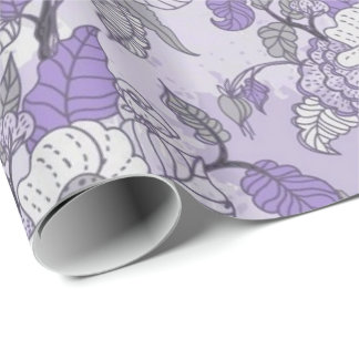 Elegant Lavender & White Floral Wrapping Paper