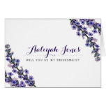 Elegant Lavender Will You Be My Bridesmaid Card