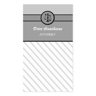 Elegant Law Firm Attorney Lawyer Justice Scales Pack Of Standard Business Cards