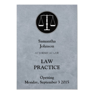 Elegant Law Practice Opening Announcement