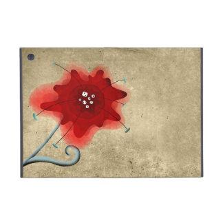 Elegant Leaf Swirly Red Poppy Cover For iPad Mini