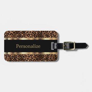 Elegant Leopard Animal Print | DIY Text Luggage Tag