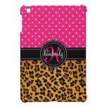 Elegant Leopard Print Pink Dots Girly Chic Custom