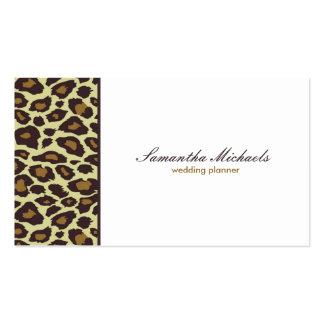 Elegant Leopard Wedding Planner Pack Of Standard Business Cards