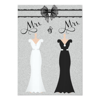 Elegant Lesbian Gay Two Brides Wedding Invitation