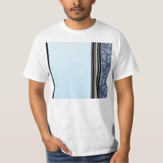 Elegant light blue damask t shirt