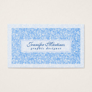 Elegant Light Blue Tones Glitter & Sparkles 2 Business Card