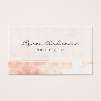 Elegant Light Flowers Business Card