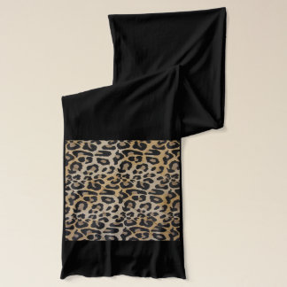 Elegant Light Leopard Scarf