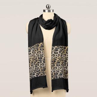 Elegant Light Leopard Scarf