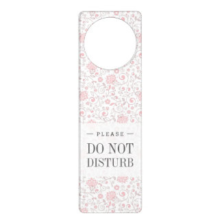 Elegant Light Pink Floral Pattern Door Hanger