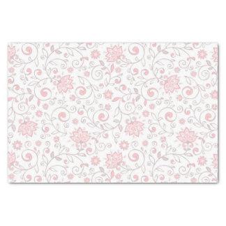 Elegant Light Pink Floral Pattern Tissue Paper