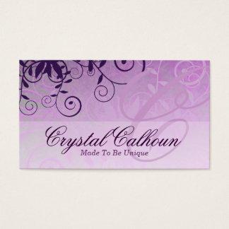 Elegant Light Purple Customizable Business Card