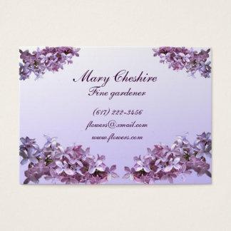 Elegant Lilacs Gardener Business Card