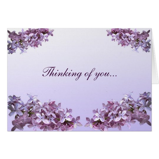 Elegant Lilacs Thinking of You Card