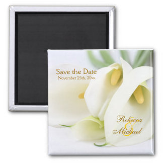 "Elegant Lillies ""Save the Date"" Magnets"