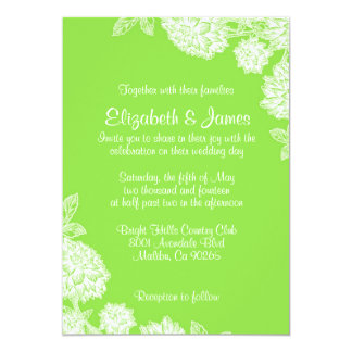 Elegant Lime Wedding Invitations