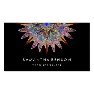 Elegant Lotus Flower Logo Yoga Pack Of Standard Business Cards