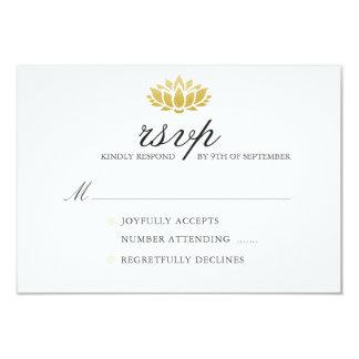 Elegant Lotus Flower Wedding RSVP Card