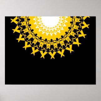 Elegant Lotus Mandala Poster