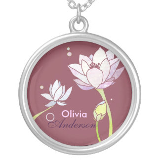 Elegant Lotus: Personalized Name Necklace