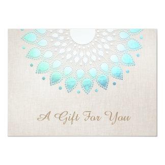 Elegant Lotus Salon and Spa Gift Certificate 11 Cm X 16 Cm Invitation Card