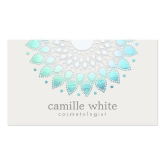 Elegant Lotus White Spa and Beauty Pack Of Standard Business Cards