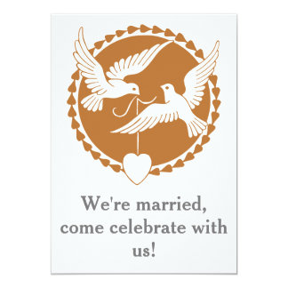 Elegant Love Dove Gay Wedding Reception Invitation