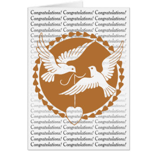Elegant Love Doves Wedding Congratulations Card