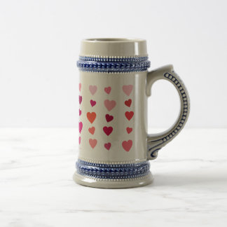 Elegant love of hearts of the day of San Valentin Beer Steins