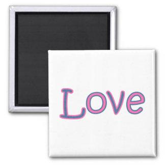 elegant love square magnet