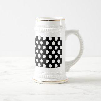 Elegant lovely romantic polka dots beer steins