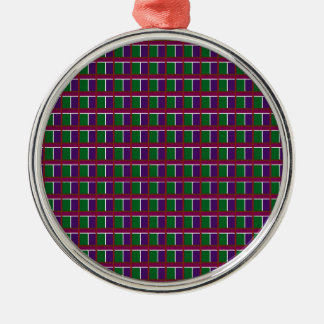 Elegant LOW PRICE Checks Holy Purple Greetings FUN Silver-Colored Round Decoration