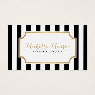 Elegant Luxe Bold Black and White Stripes