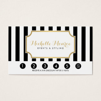 Elegant Luxe Bold Black and White Stripes Loyalty