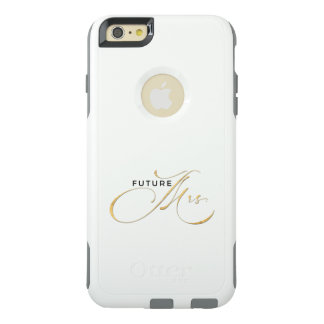 Elegant Luxury Black Gold Foil Script Future Mrs OtterBox iPhone 6/6s Plus Case