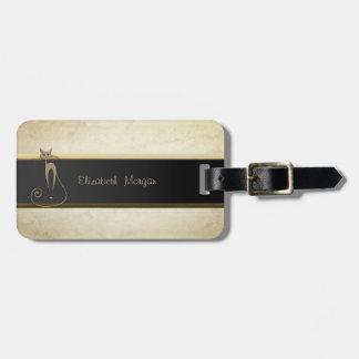 Elegant Luxury Sophisticated,Cat Luggage Tag
